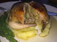 De-boned and stuffed quail