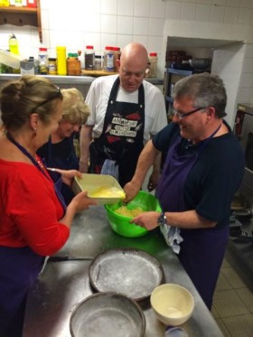 In the kitchen at the Gascony Cookery School